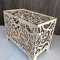 Свадебный деревянный сундук для денег