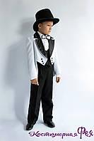 Классический костюм для мальчика, джентельмен, нарядный костюм для мальчика, детский фрак, смокинг (код 4)