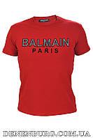Футболка мужская BALMAIN B-022 бордовая