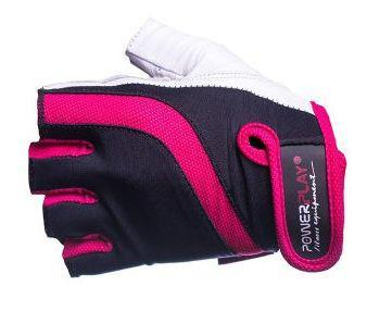 Женские перчатки без пальцев PowerPlay 02-2311 розовые