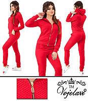 Женский красный спортивный костюм большого размера пр-во Украина 1023G