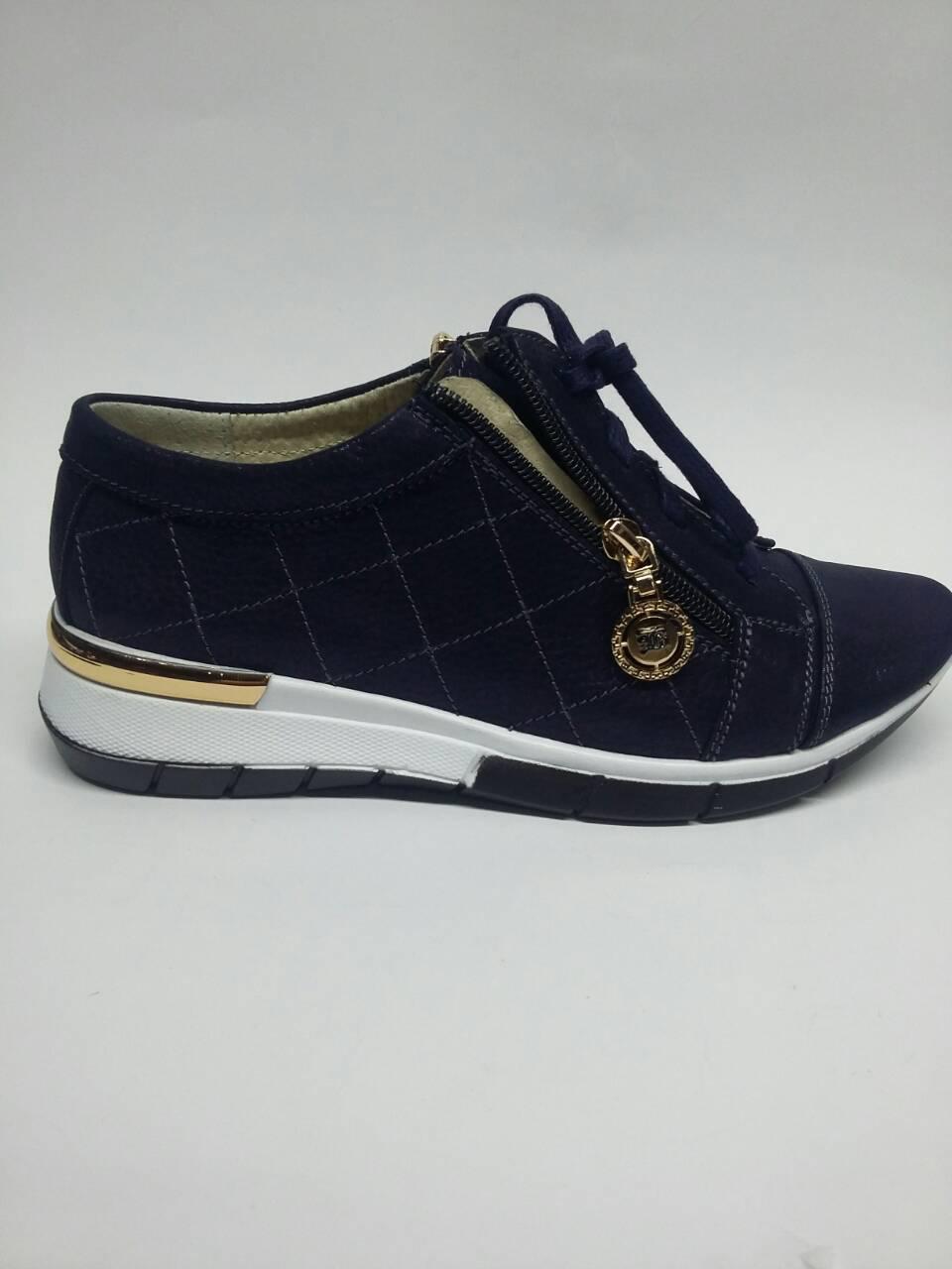2e998918898b Женские спортивные туфли на шнуровке из натуральной замши синего цвета