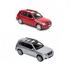 Автомодель - MERCEDES BENZ GLK-CLASS (ассорти красный, серебристый, 1:32) 18-43016, фото 3