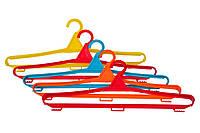 Вешалка-плечики для одежды цветные МЕД пластик