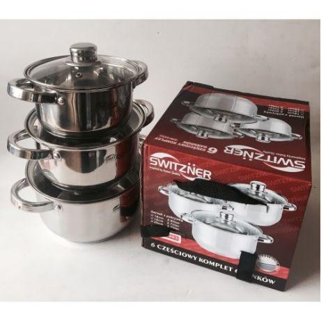 Набор посуды SWITZNER SW 9993 Набор кастрюль нержавейка