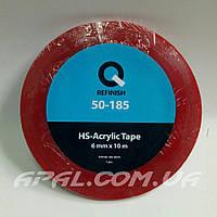 Q-Refinish 50-185 Акриловый двухсторонний прозрачный скотч 6мм х 10м