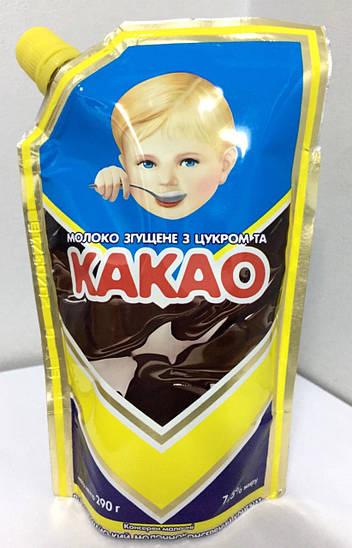 Молоко сгущенное с какао дой-пак 8.5%  290г Первомай
