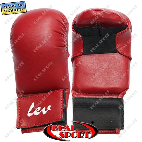 Накладки для рук карате Лев, красные, размеры S, M, L
