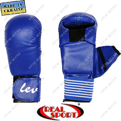 Накладки на руки для карате Лев, синие