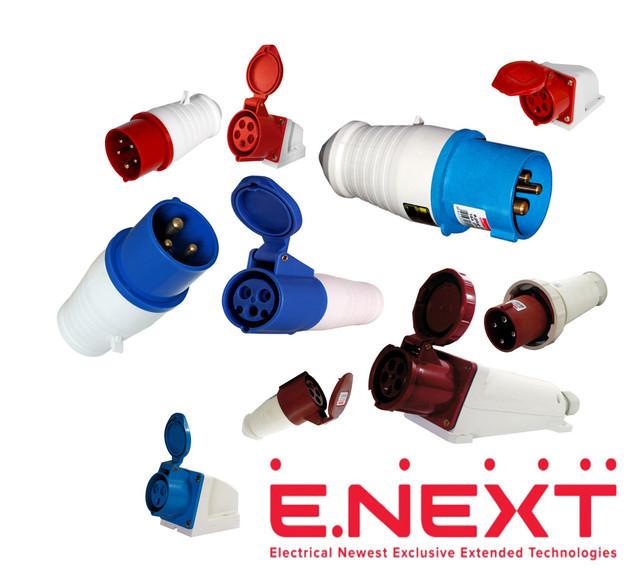 Силовые вилки и розетки пластиковые E.NEXT