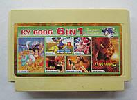 Картридж Денди 8-бит многоигровка KY-6006 (6 в 1), фото 1