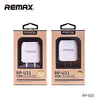 Сетевое ЗУ Proda RP-U21 на 2 USB (USB, 2,1A)