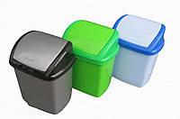 Пластиковое ведро для мусора с крышкой «Домик» 5 л Горизонт