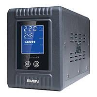 SVEN Reserve Home 500 ИБП Мощность нагр. активная 300Вт, правильная синусоида, батарея поставляется отдельно
