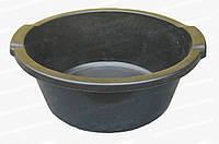 Круглый хозяйственный таз пластмассовый с ручками черного цвета 12 л Горизонт