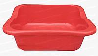 Пластиковый квадратный таз для продуктов питания 15 л Горизонт