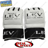 Перчатки ММА для боев без правил кожаные Лев Спорт