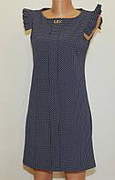 Летнее платье приталенное в горошек