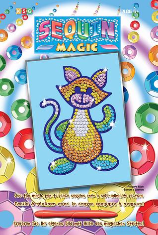 Набор для творчества Sequin Art SEQUIN MAGIC Cat SA0718                                             , фото 2