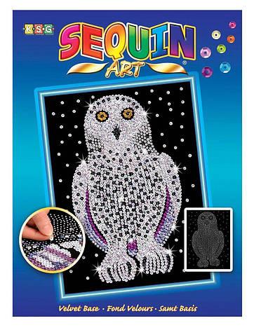 Набор для творчества Sequin Art BLUE Snowy Owl New SA1604                                           , фото 2