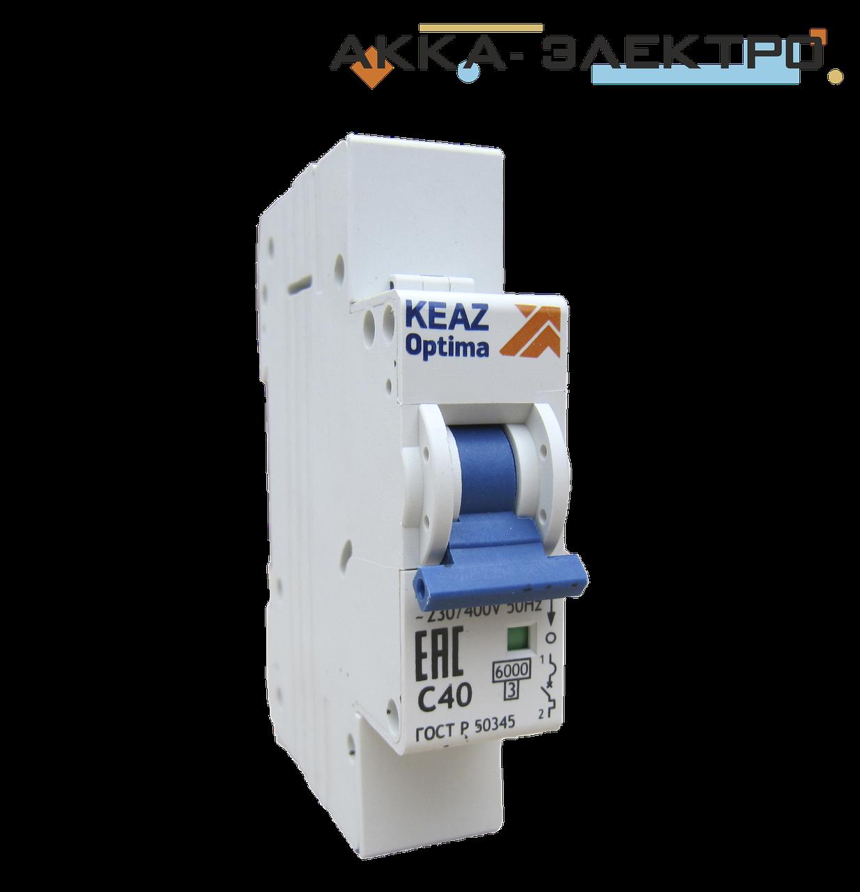 Выключатель автоматический BM-63 1п/63А KEAZ optima