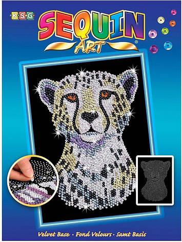 Набор для творчества Sequin Art BLUE Snow Cheetah New SA1605                                        , фото 2