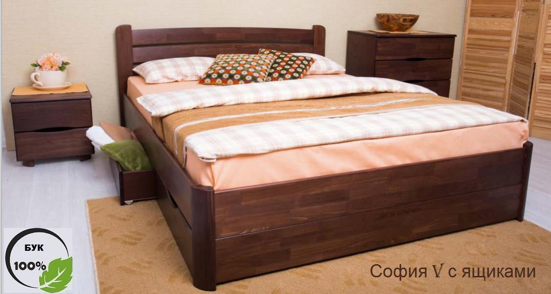 Двуспальная кровать София V с ящиками