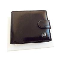 Мужской кошелек Bretton из натуральной кожи. Кожаное портмоне черный цвет., фото 1