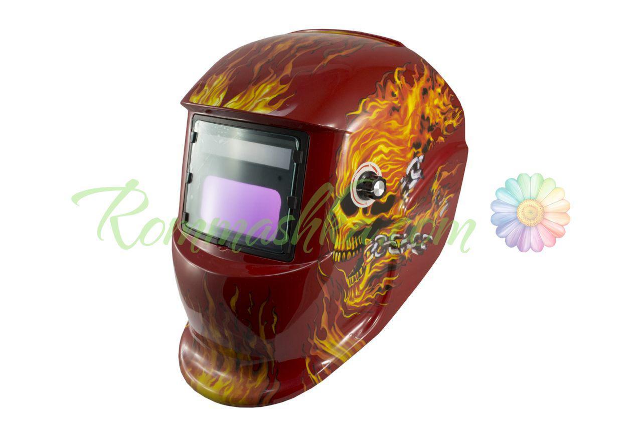 Маска сварочная Асеса - хамелеон TH-41-C518 красный череп