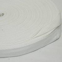 1 см Киперная лента (синтетическая, белая) - 50м.