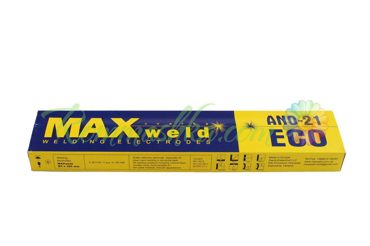 Электроды MAXweld - (АНО-21 Эко) 3 мм х 2,5 кг