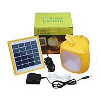 Туристический фонарь с солнечной батареей Solar Lantern GC-501B + зарядка для телефона, фото 1