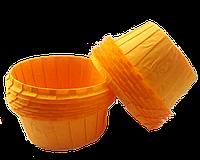 Формы бумажные для кексов с бортиком оранжевые, 55*35 мм