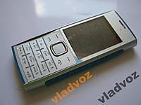Корпус для nokia x2 00 с клавиатурой серебро 2A