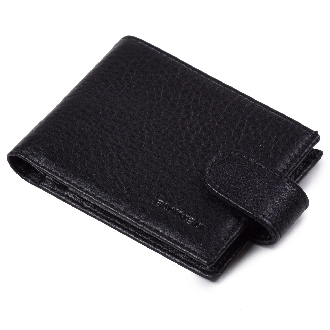 Кредитница с отделением для купюр Eminsa 1516-12-1 кожаная черная