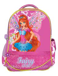 """Ранец-рюкзак """"Fairy Club 1"""", 2 отд., 38*29*15cm ,JQ PL ,корал.,9424, CLASS"""