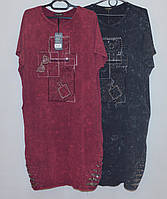 Платье летнее женское трикотажное (большой размер)