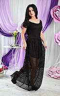 Молодежное длинное платье