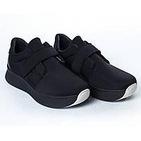 Кроссовки черные на липучке