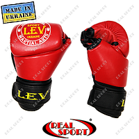 Перчатки для рукопашного боя Free Fight кожаные, красные, фото 1