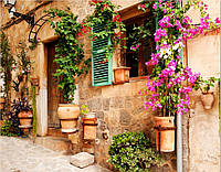 Фотообои стена с цветами