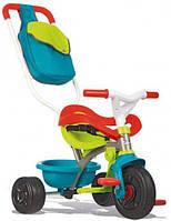 Детский велосипед с багажником и сумкой, Smoby Toys (зелено-голубой)