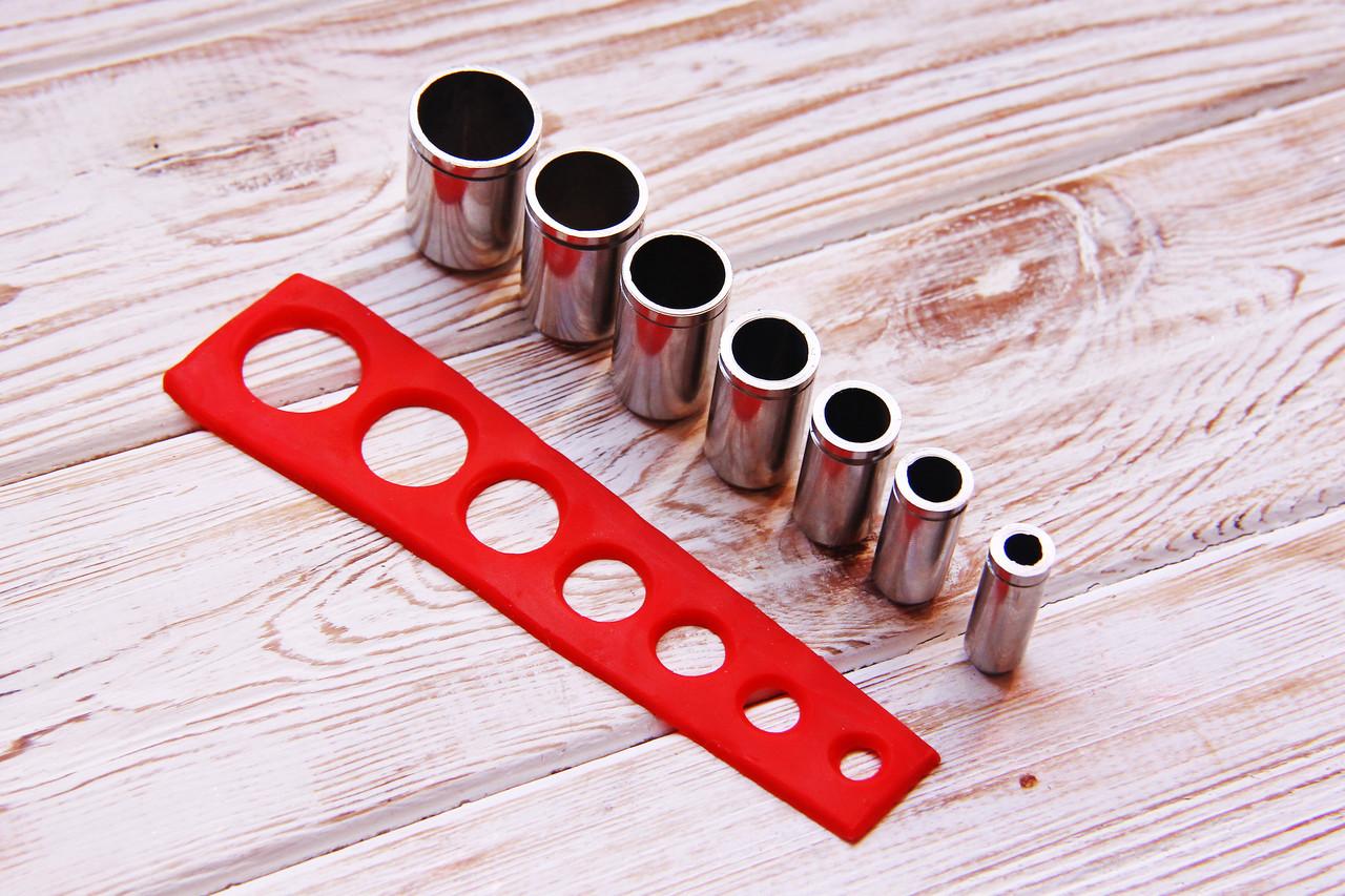 НОВИНКА! Набор из 7 шт очень удобных круглых каттеров от 19 до 9 мм с шагом 2 мм.Нержавеющая сталь., фото 1