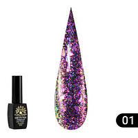 """Гель лак """"алмазный"""" Global Fashion 8 ml №301, фото 1"""
