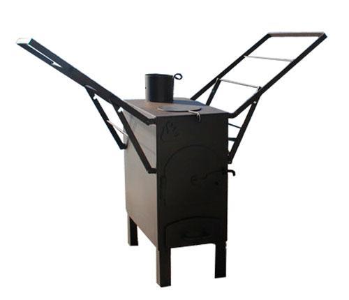 Печка буржуйка с сушкой для одежды