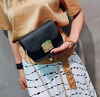 Женская сумка клатч Furla черная Уценка, фото 1