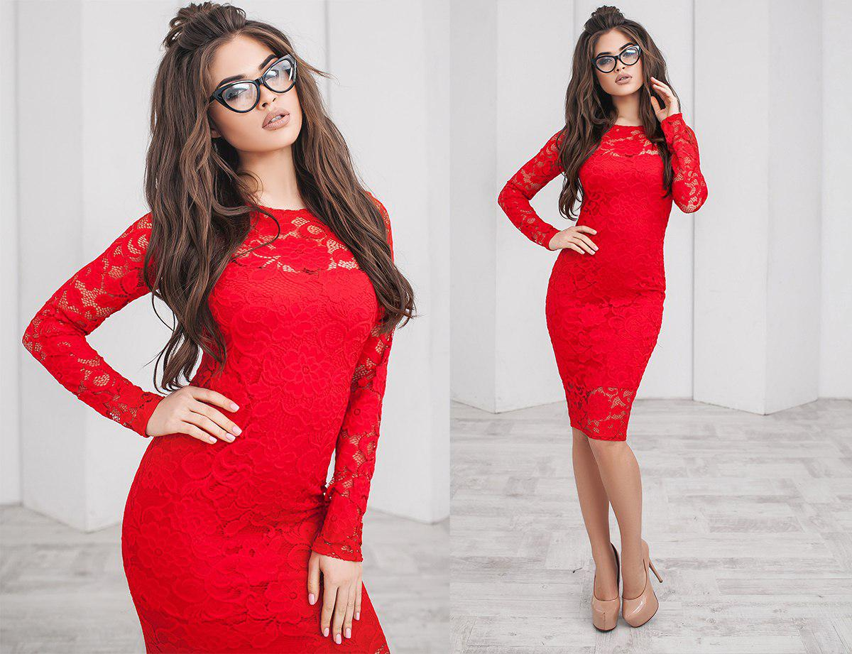 ee07546c388 Коктейльное гипюровое платье-футляр на подкладке - Интернет-магазин одежды