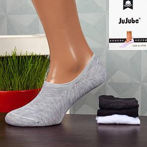 Мужские короткие носки-следы Jujube F568-1. В упаковке 12 пар