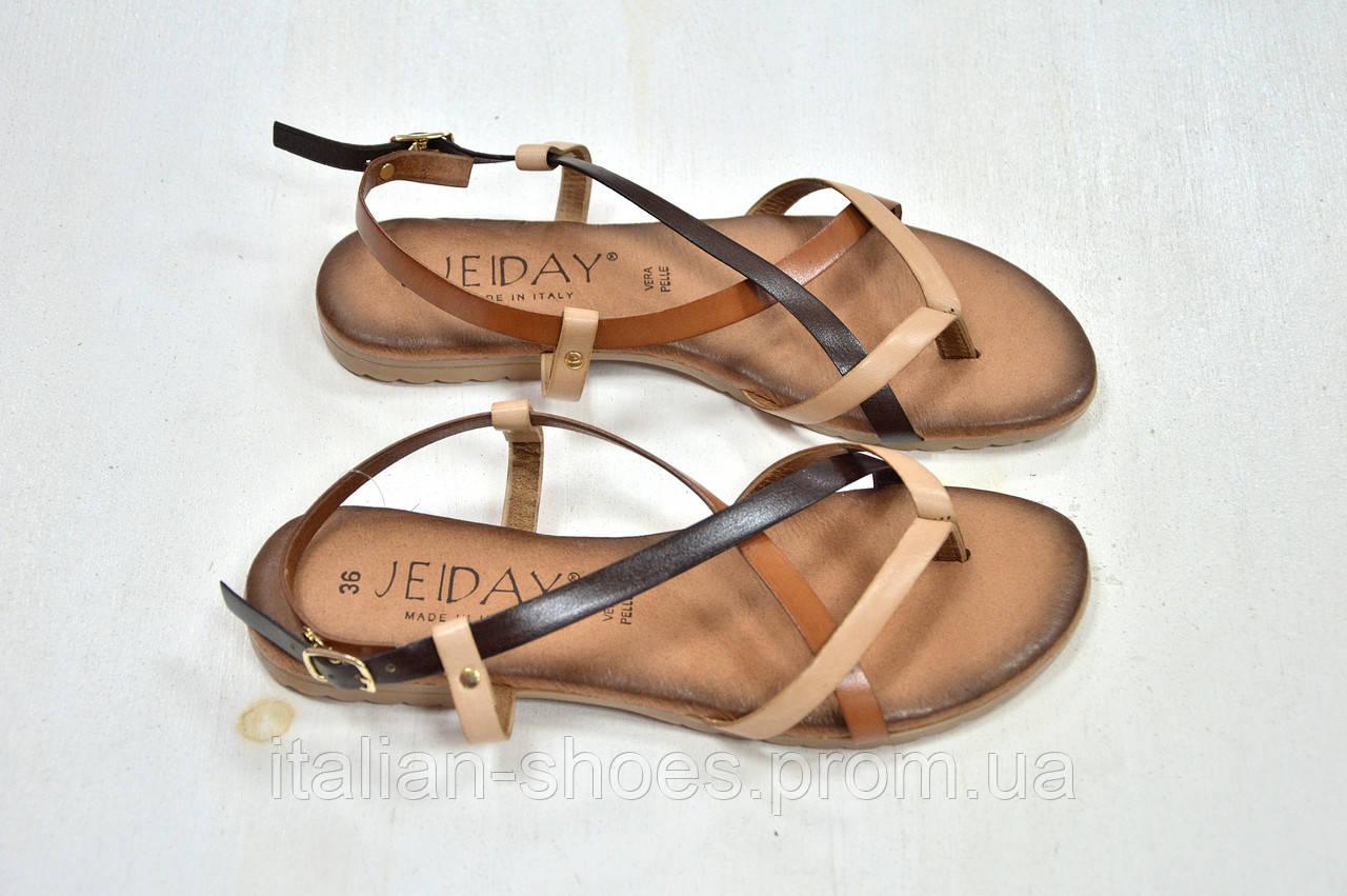 Сандалии женские коричневые Jeiday к.22