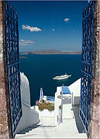 Фотообои ступени к морю Греция